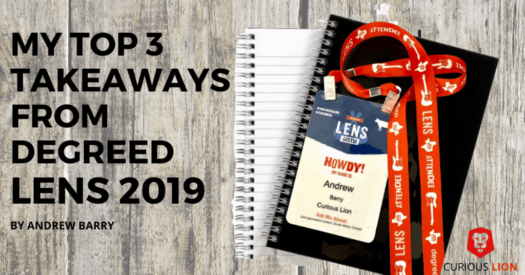 My top 3 takeaways from Degreed LENS 2019