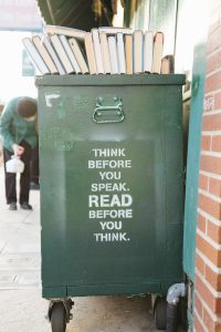 think before you speak read before you think