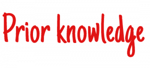 Learning and design principle - Prior knowledge