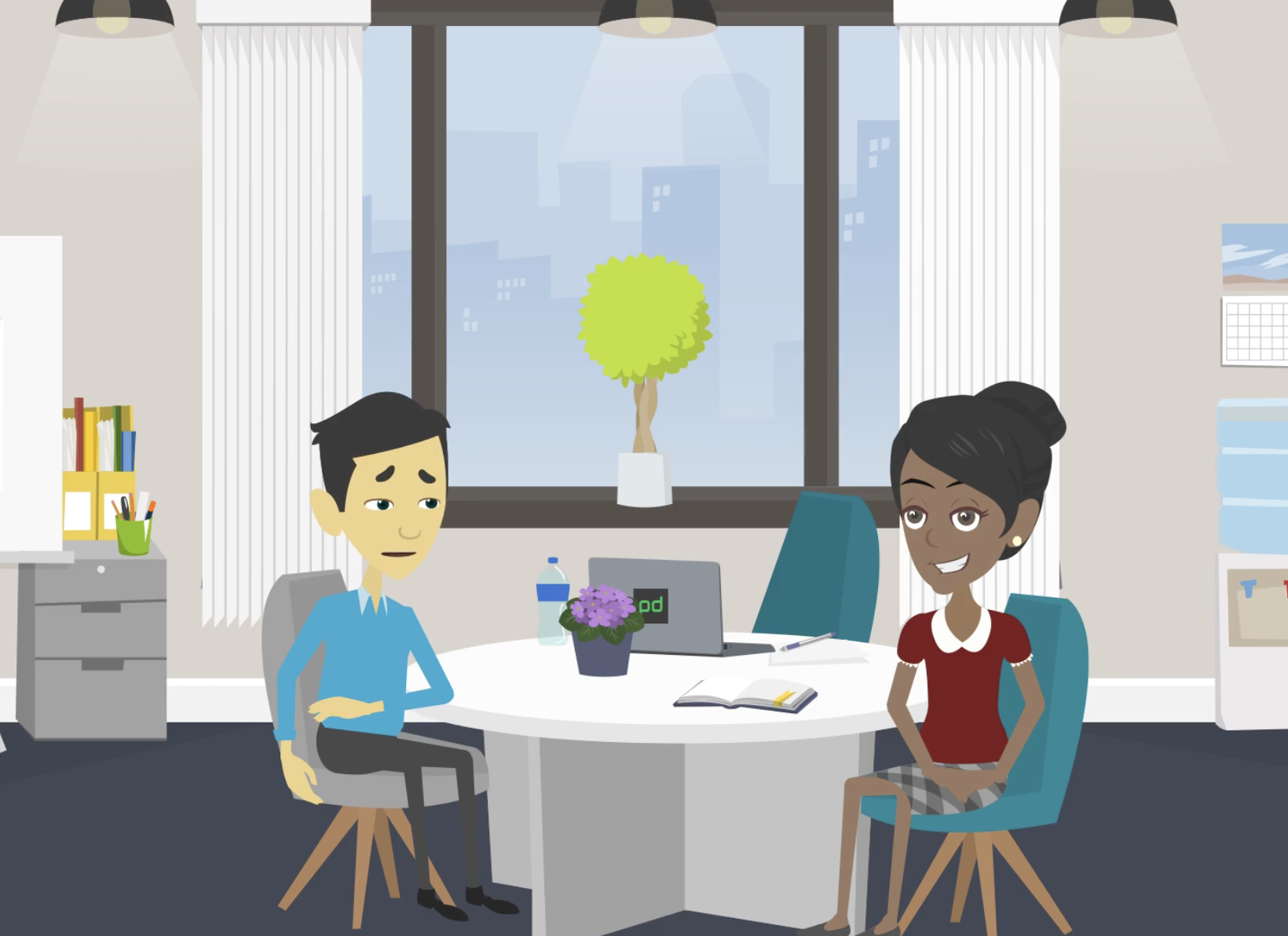 Animated employee onboarding