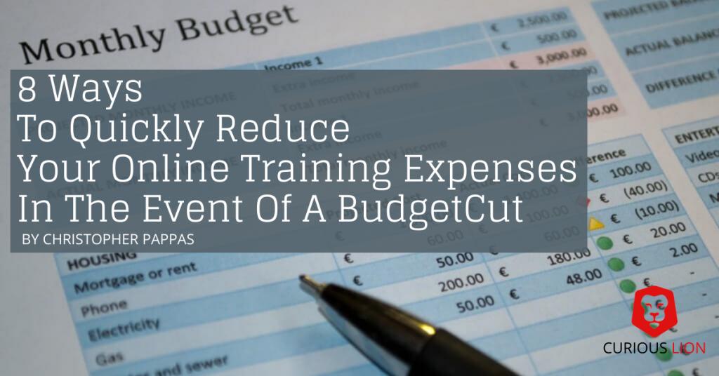 reduce online training expenses