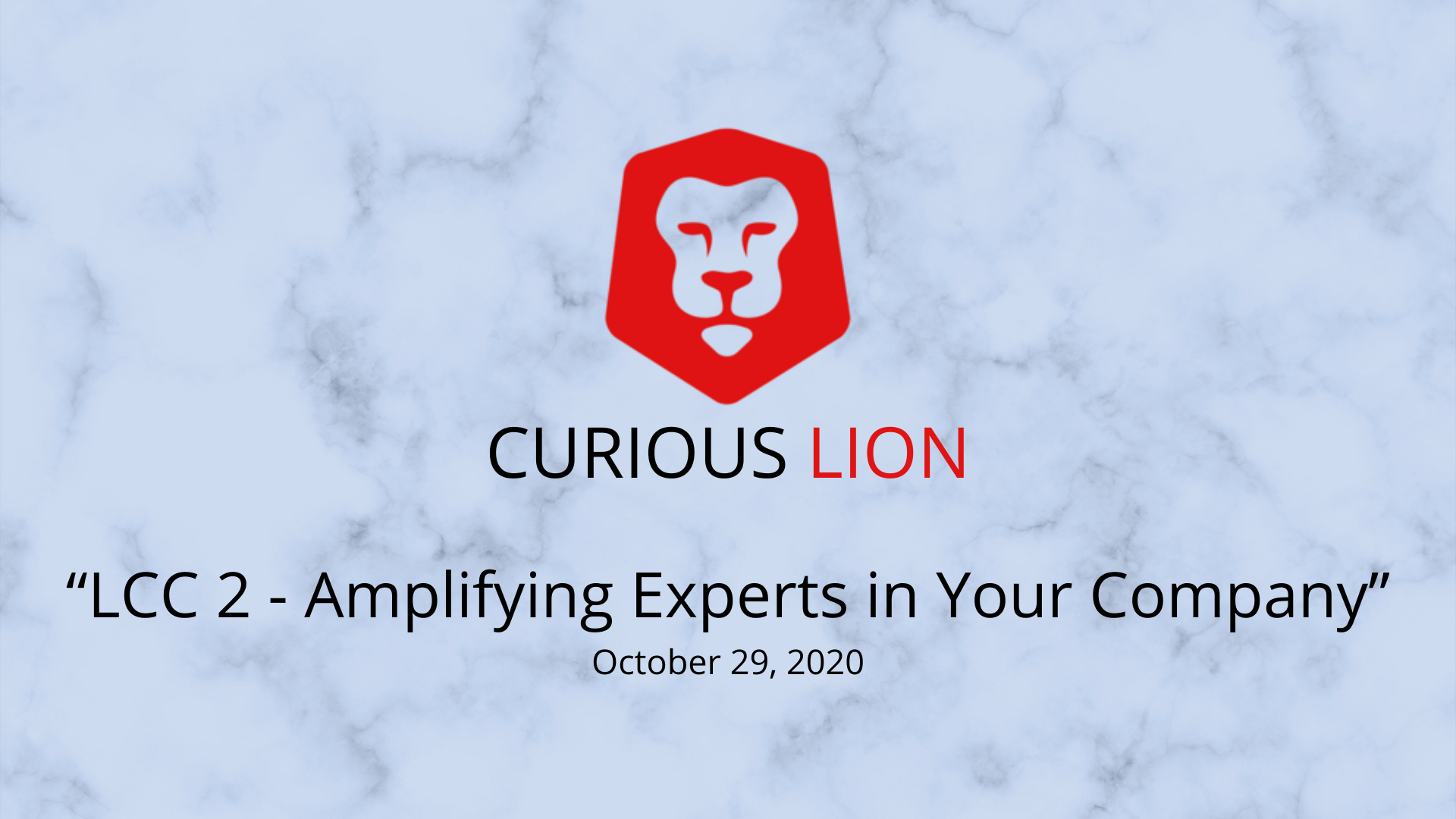 LCC 2 - Amplifying Experts in Your Company
