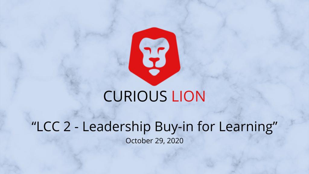 LCC 2 - Leadership Buy-in for Learning